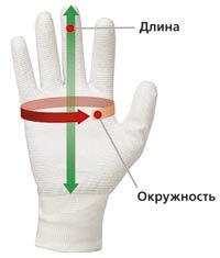 Размеры рабочих перчаток